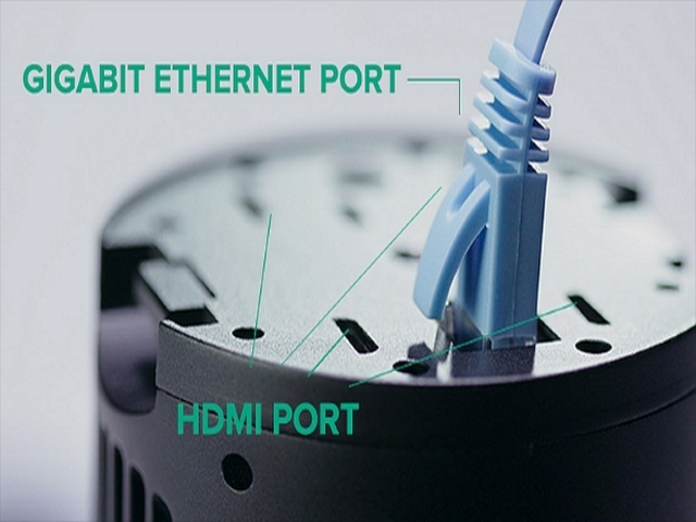HDMI and Ethernet ports
