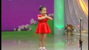 Cute Chinese Girl Singing
