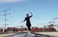 Acrobatics Over The Rooftops Of Paris