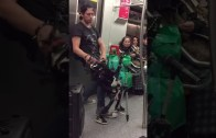 A Heavy Metal Puppet Show In The Train