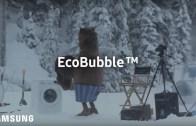 Huge Bear Surprises Crew on EcoBubble Photo Shoot