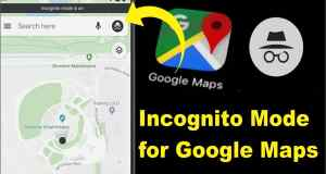 incognito Mode for google maps