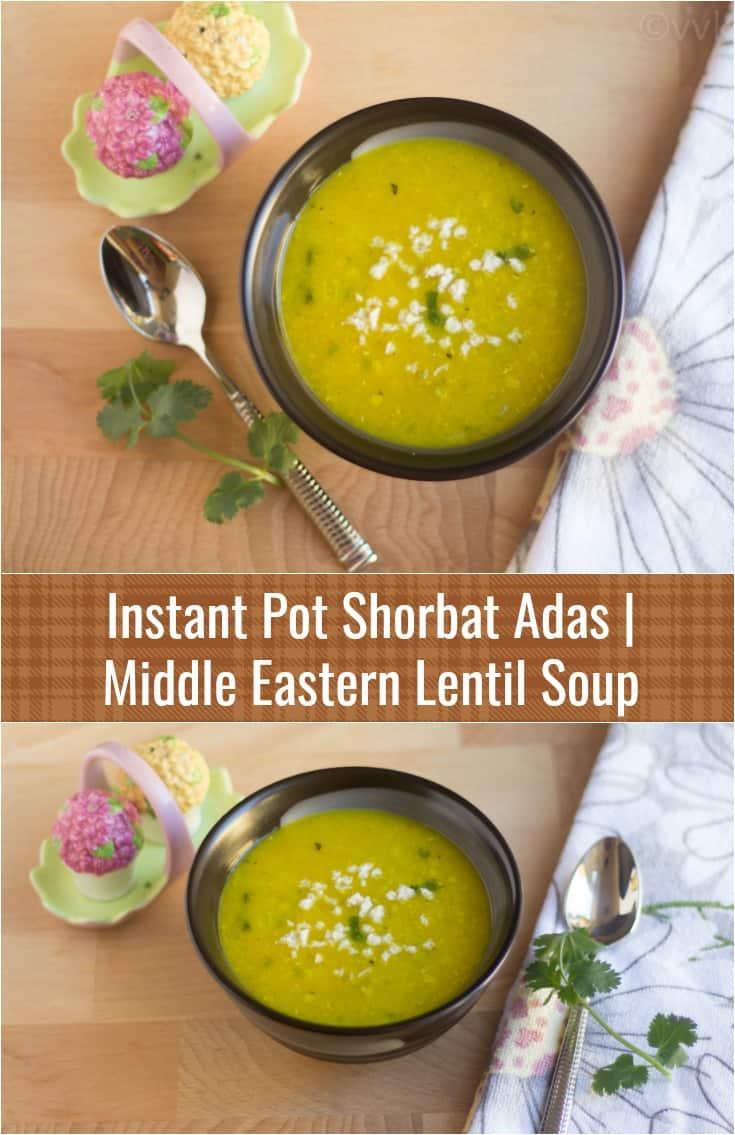 Shorbat Adas | Middle Eastern Lentil Soup