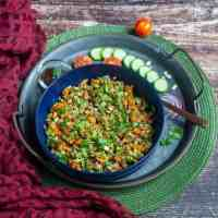 Oats Bhel | No-Oil Oats Chaat | Indian-Style Oats Salad