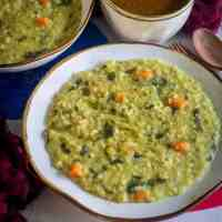 Steel-Cut Oats Khichdi with Frozen Masoor Dal | Instant Pot Khichdi