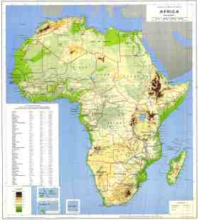 High Resolution Detailed Physical And Political Map Of Africa Africa High Resolution Physical And Political Map Vidiani Com Maps Of All Countries In One Place