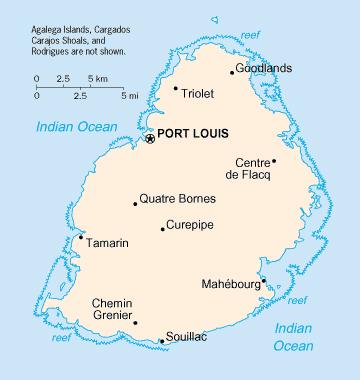 Map of Mauritius Mauritius map Vidianicom Maps of