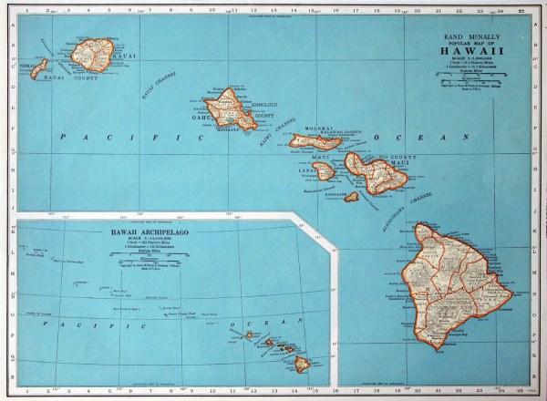 Administrative map of Hawaii state Hawaii state administrative map Vidianicom