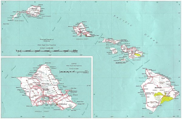 Detailed map of Hawaii Hawaii detailed map Vidianicom Maps of all countries in