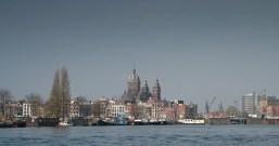 Amsterdam, pogled na crkvu Sv. Nikole - Amsterdam, Church of St Nicholas