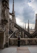 Milano, Il Duomo, detalj na krovu - Milan, Il Duomo, on the roof