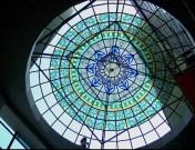 Fabricación de vidrieras para cúpulas