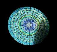 Fabricación de vidriera para cúpula