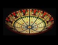 Fabricación de vidrieras emplomadas para cúpulas