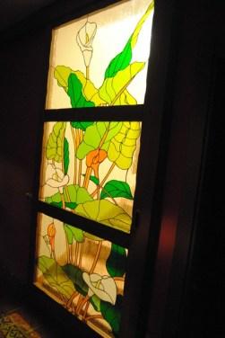 Fabricación de puerta de cristal Tiffany