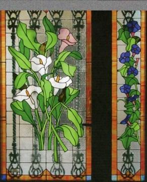 Fabricación de vidrios decorados Tiffany
