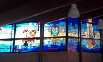 Fabricación de vidriera emplomada para iglesia