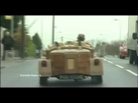Amazing Mahogany Wooden Car