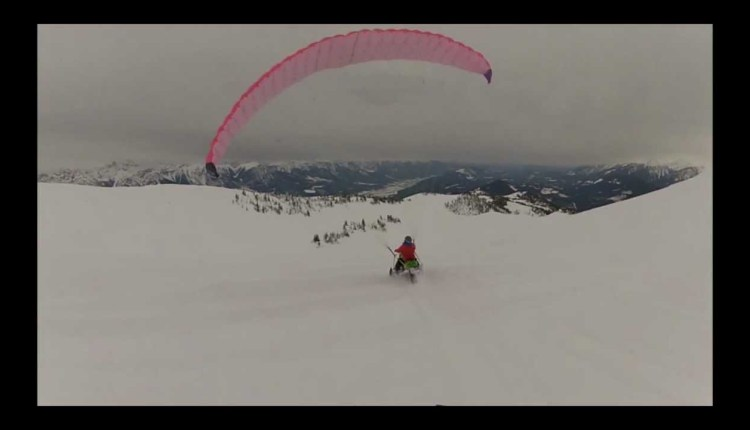 Amazing Parasledding Adventure In Snow