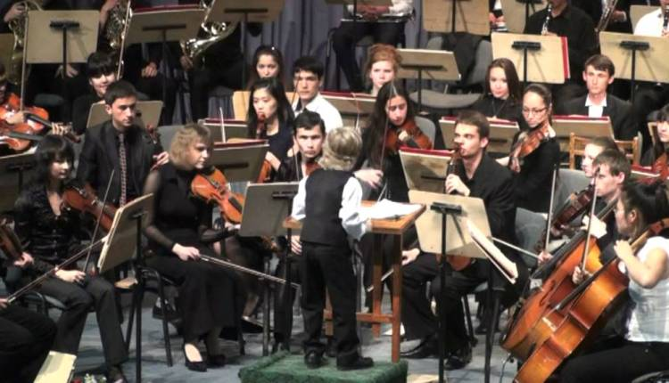 Amazing Young Orchestra Conductor