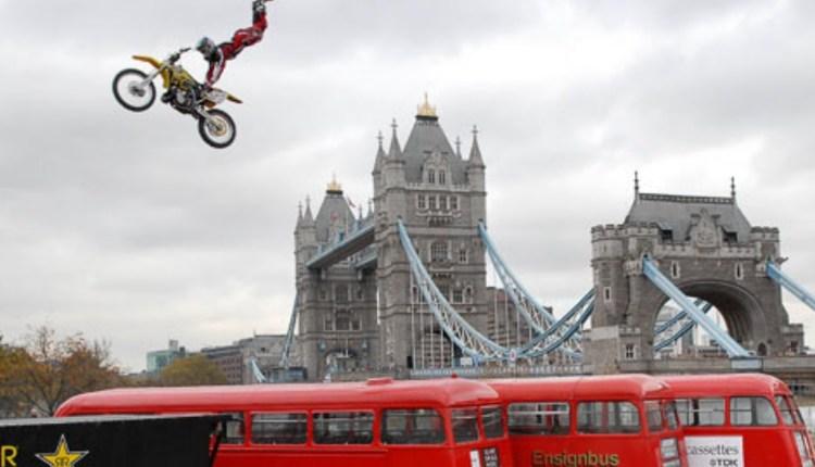 Bus Backflip Motorcycle Stunts