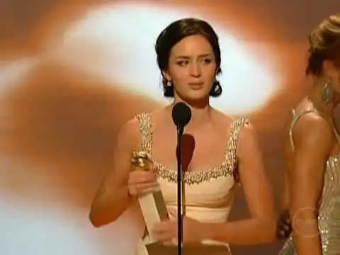 Emily Blunt Golden Globes Acceptance Speech