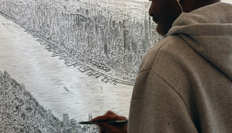 Man Draws NYC From Memory