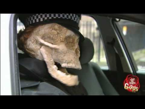 Police Officer Skeleton Prank