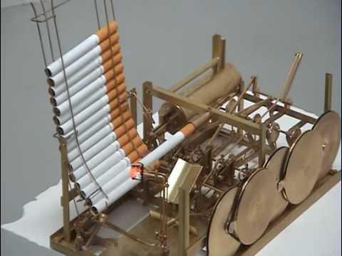 Smoking Machine That Lights, Smokes And Stubs Cigarettes