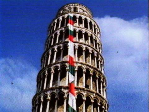 Tower of Pisa Gets Necktie