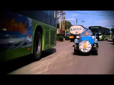 A Chinese Farmer Creates Wind Powered Car