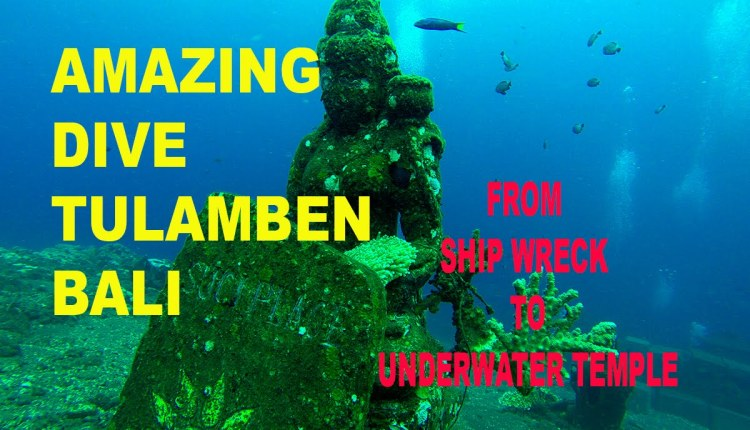Best Spot Dive Ship Wreck & Underwater Temple at Tulamben Bali Indonesia