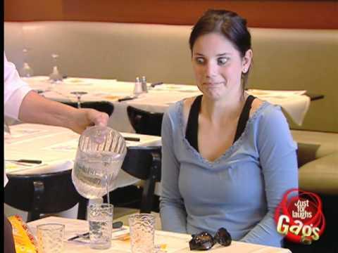Funny Blind Waitress Prank