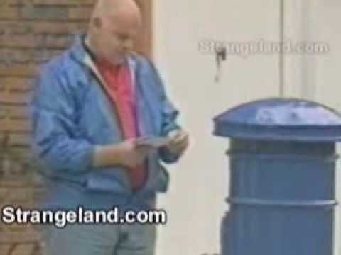 Funny Prank – Man in a Letter Box