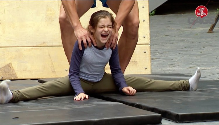 Little Girl Forced To Do The Splits In This Crazy Prank