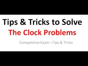 घड़ी से संबंधित प्रश्न हल करने की ट्रिक