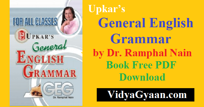 Upkar's General English Grammar by Dr. Ramphal Nain PDF