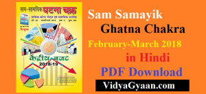 Sam Samayik Ghatna Chakra PDF February-March 2018 in Hindi