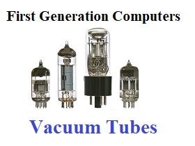 vacuum tubes first generation computers