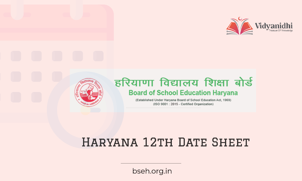 HBSE Board 12th Date Sheet - Exam Dates