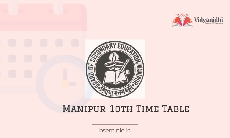 Manipur HSLC Time Table - Class 10 Date Sheet