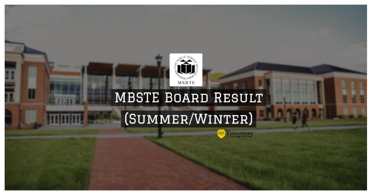 MSBTE Results 2020 Summer - msbte.org.in 2020 result