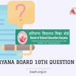 Haryana Board 10th model question paper 2021