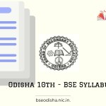 Odisha 10th - BSE syllabus 2021