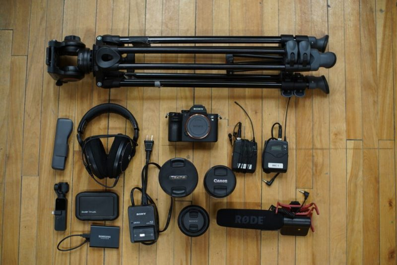 a look at what equipment to take on a documentary production