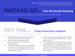 Video to the Rescue Internal Communications Guide Blog CTA