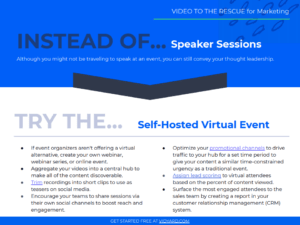 Video to the Rescue Marketing Guide Blog CTA