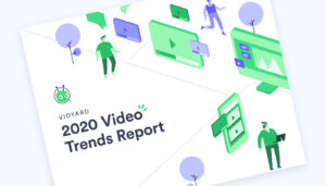 The cover of Vidyard's 2020 Video Trends Report
