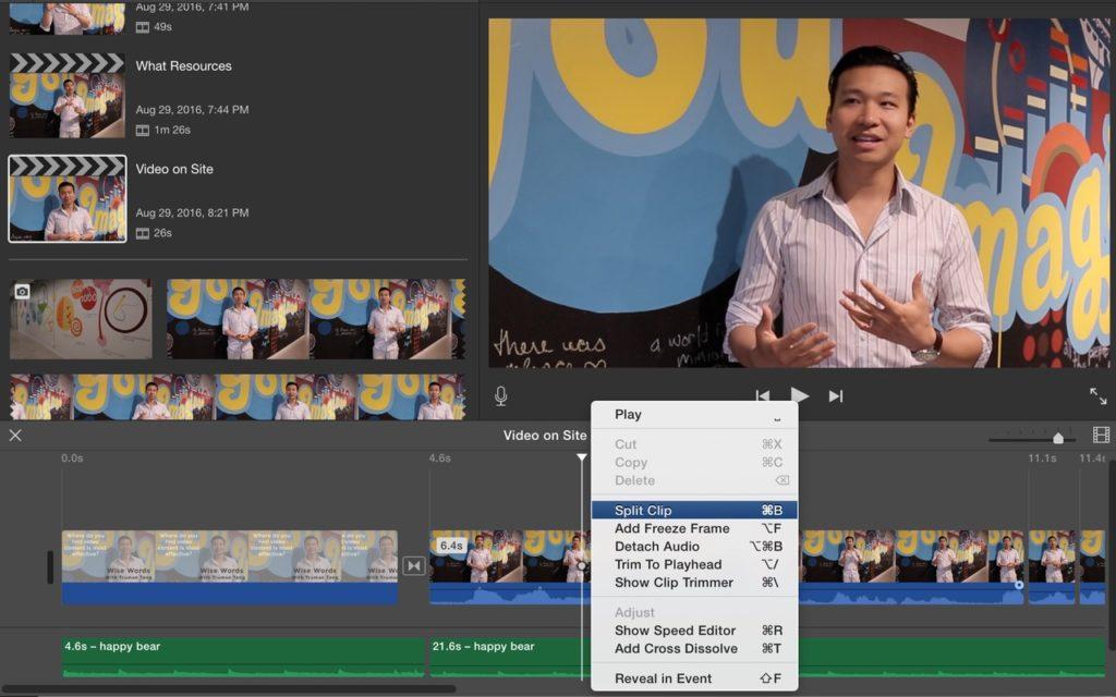 Video editing screen capture