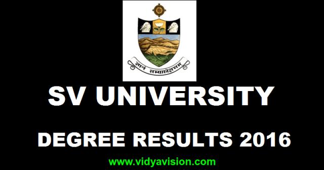 SV University Degree Results November 2016